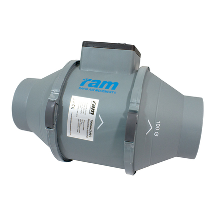 RAM Kanalfläkt - 100mm 165 / 200 m³