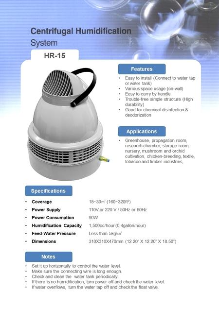 Faran HR-15 Luftfuktare och Hygrostat Kit
