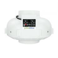 Prima Klima fläkt 800m3/tim 160mm med inbyggd GSE digital fläktkontroller Temp/Minimum hastighet